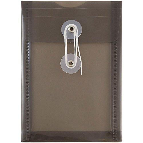 Jam Paper Kunststoff Umschläge - Taste Und String Krawatte Schließung - Open End - 4 1/4