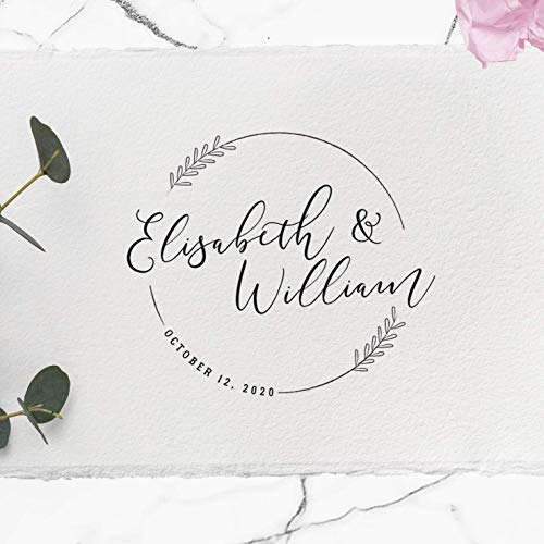 CUSTOM WEDDING STAMP, Wedding Stamp, Personalized Wedding Stamp, Rubber Wedding Stamp, Diy Wedding, Wedding Card, Wedding Invitation