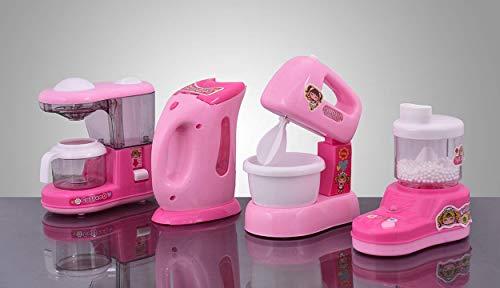 JMV® Pink Household Home Appliances Kitchen Play Sets Toys for Kids (4 Set)