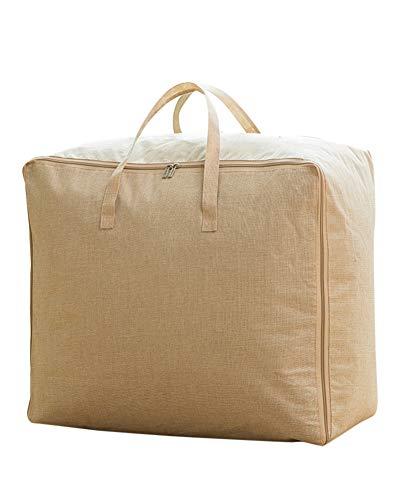 ZiXingA Sac de Rangement sous Lit à Grande Capacité Tissus Épais pour édredons couvertures literie duvets couettes oreillers vêtements Beige XL
