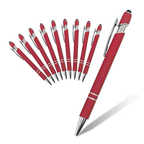 【タッチペン】ボールペン シリコンメタル製 書きやすい 多機能 ビジネス ipad tablet game (10本セット)