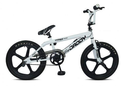 Rooster Big Daddy Mag 2011 Boy's BMX Bike - White/Black/Black, 20 inch
