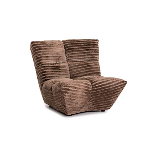 Bretz Cloud 7 Velvet Fabric Armchair Brown