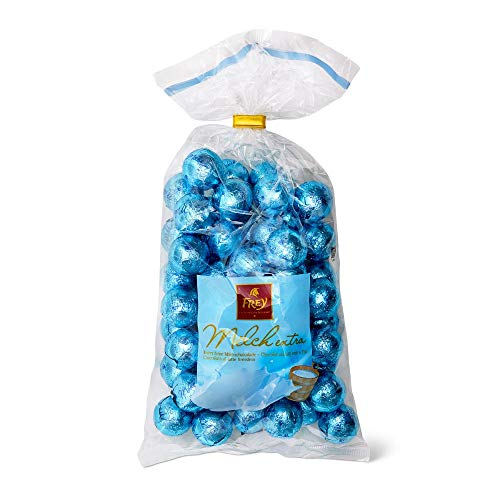 Frey Vollmilch-Schokoladenkugeln 750g - Schweizer Milchschokoladenkugeln - Großpackung 1x 750 g - UTZ-zertifiziert - Praline Milchschokolade