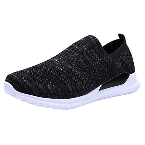 Zapatillas Deportivas Running de Mujer para Correr Asfalto Zapatos Gimnasia Deporte Fitness Casual Transpirables Negro Gris 0206