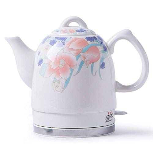 Bouilloires en céramique bouilloire électrique sans fil eau Teapot, 1.5L Teapot-Retro Jug rapide 8bayfa