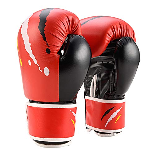 Kinder Boxhandschuhe Set 6oz   Kinderhandschuhe   MMA Handschuhe   6 bis 12 Jahre   Muay Thai   Taekwondo   Sanda Fight   Rot Weiß Schwarz Blau