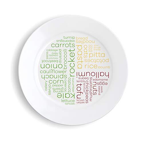 Healthy Portion Plate (Vegetarian - Melamine)