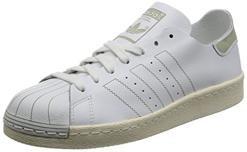 adidas Herren Superstar 80s Decon Sneaker, Weiß (Footwear White/Footwear White/Vintage White), 46 EU