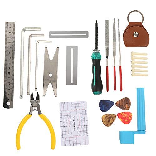 Herramienta de reparación de guitarra, metal y acero inoxidable hecho 12 cm 14 cm reparación de herramienta de mantenimiento
