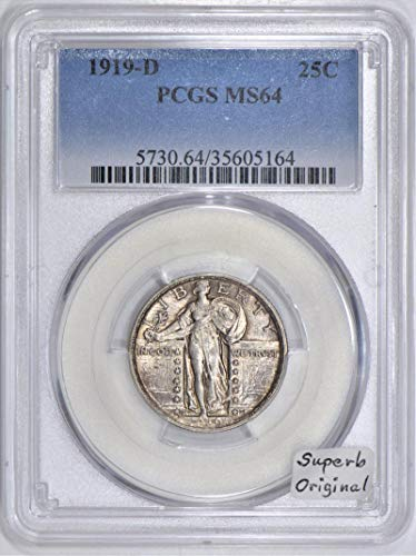 1919 D Standing Liberty Quarter MS-64 PCGS