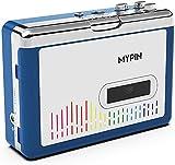 MYPIN Reproductor de Casetes Bluetooth,Cassette Player, Walkman Cassette, Convertidor de Cassette a mp3 con Salida de Altavoz/Auriculares de 3.5mm