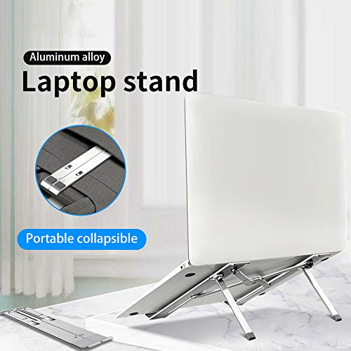 MROSW Folding Laptop Notebook Stand Riser-houder in hoogte verstelbaar Ergonomisch computerbureau voor 11–17 inch voor MacBook Air Pro