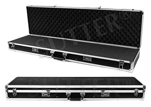 SUTTER Aluminium Waffenkoffer 120x37x14 cm - ALU Gewehrkoffer - Jetzt optimal & preiswert für die Reisezeit - Gewehrtasche Waffenfutteral