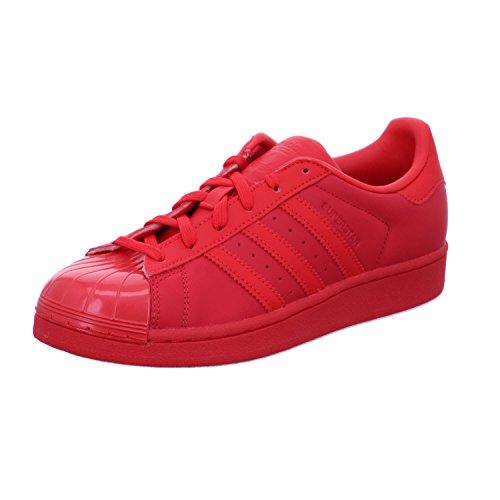 Zapatillas deportivas para mujer Adidas Superstar Glossy, color Rojo, talla 42 2/3 EU
