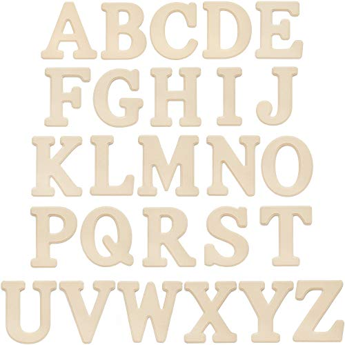 Wooden Alphabet Letters, Wood Wall Decor (6 in, 26 Pieces)