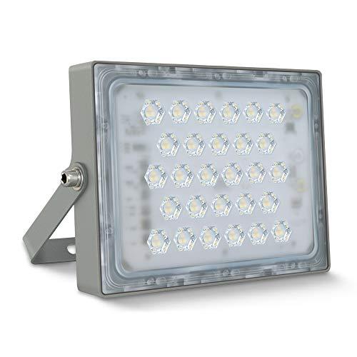 STASUN, faretto LED da 50 W, 4500 lm, super luminoso, faretto da esterno, IP65, impermeabile 5000 K, luce bianca diurna, ideale per giardino, garage, hotel, ecc.