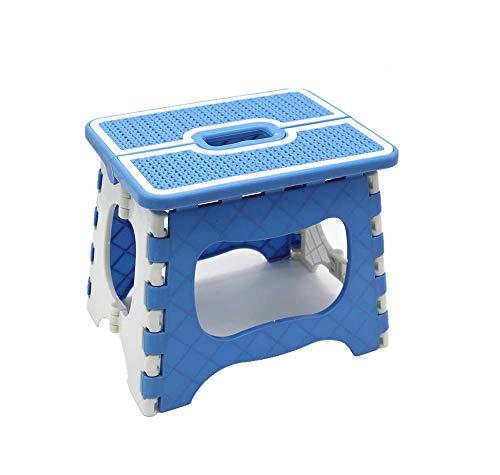 子供 大人兼用 折りたたみ踏み台 ステップ チェア スツール 丈夫な脚立 滑り止め 安全 ブルー