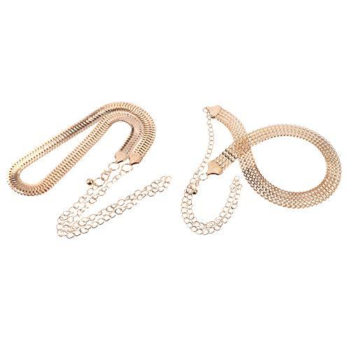PRETYZOOM 2 Piezas de Cinturón Elástico para Mujer Cinturón de Vestir de...