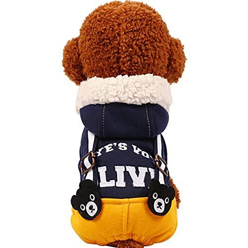 Ccgdgft Herfst en winter explosies huisdier kleding fabriek direct kleine hond capuchon plus fluwelen chocolade beer slab hond kleding, Zwart
