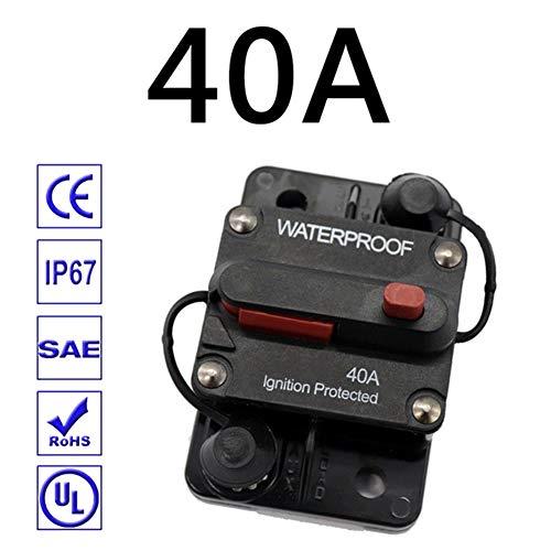 HOPQ 30A 40A - 300A Ampere Leistungsschalter Sicherung Reset 12-48V DC Auto Marine Wasserdicht, Kfz-Versicherung, Auto-Audio-Konvertierung mit Schalter Automatischer Sicherungshalter Leistungsschutz