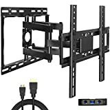 Everstone TV Wall Mount for 26'-60' TVs Dual Articulating Arm Tilt Swivel Full Motion Bracket,LED,LCD,OLED and Plasma Flat Screen TV,Curved TV,Up to VESA 400mm,HDMI Cable