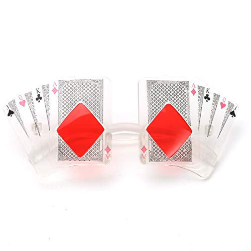 BAOLH Sonnenbrillen Poker Fanci-Frame Erwachsene Kinder Party Sonnenbrille Perfekte Party Favor Brille Party Zubehör (Farbe : Red)