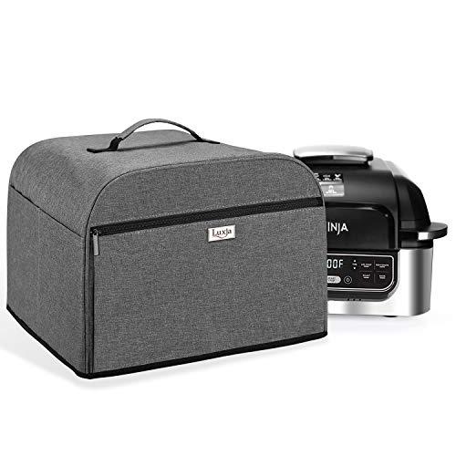 Luxja Staubschutz kompatibel mit Ninja Foodi Grill (AG301, AG302, AG400), Abdeckung mit Aufbewahrungstaschen, Grau