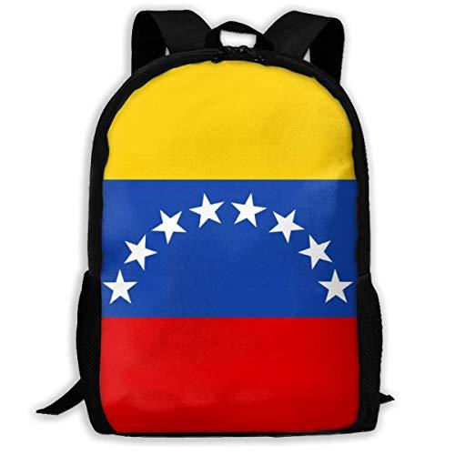 XCNGG Flag of Venezuela Printed Travel Backpack,Waterproof Lightweight Laptopbag Have Two Side Pockets