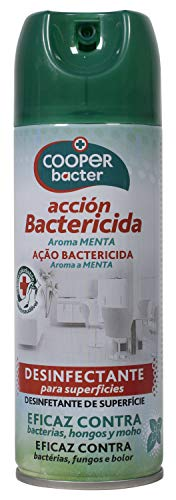 Cooper Protect SP Cooper Bacter | Aerosol Bactericida| Desinfectante para Superficies | Eficaz contra Bacterias, Hongos y Moho | Aroma Menta | Contenido: 200 ml