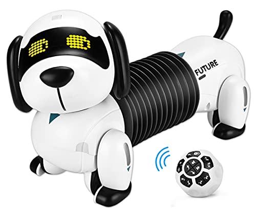 ALLCELE Roboter Hund Kinderspielzeug, Ferngesteuerter Folgen Hund, Programmierbare...