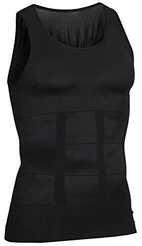 i-select Shapewear Ärmelloses Kompressions-Shirt Taille Fettpolster Tank Top (EU S/AsiaEtikett M, Schwarz)