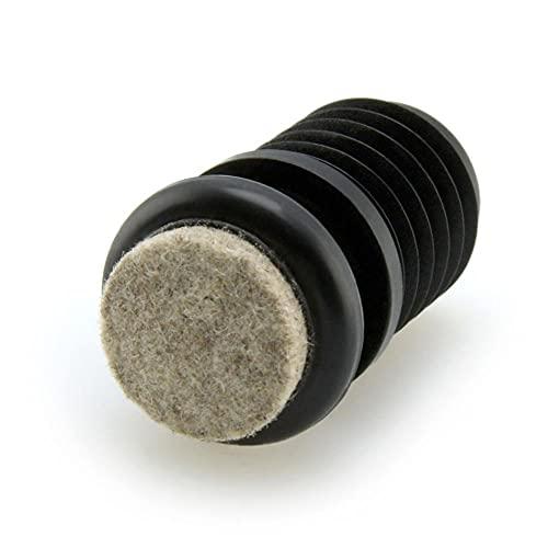 GleitGut 4 x Gelenkgleiter Filz für Stahlrohr Stühle Stuhlgleiter Gelenk für schräge und gerade Stuhlbeine (17,5-19,0 mm)