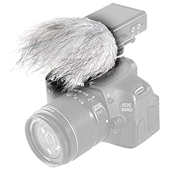 Movo WS9 Furry Outdoor Windscreen Microphone Muff for Portable Digital Recorders up to 3  X 1.5   W x D  - Fits The Zoom H4n PRO H5 H6 Tascam DR-05 DR-07 DR-40 and More  Light Gray