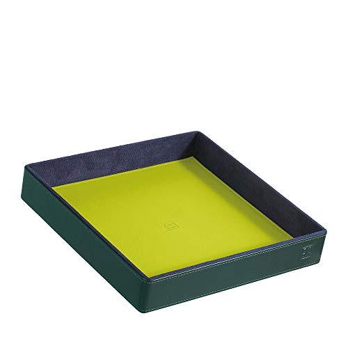 DUDU Svuotatasche in Pelle Colorato di Design da Ingresso Porta Oggetti con Scatola Regalo Mangrove