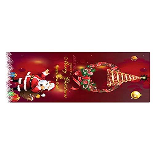 MOHAN88 Decoraciones navideñas Alfombrilla de Franela Dormitorio Alfombra mullida Antideslizante Felpudos de Bienvenida Alfombras de Interior para el hogar Decoración - Multicolor