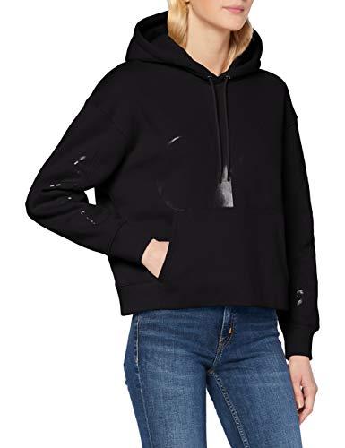 Calvin Klein Jeans Damen Eco Hoodie Pullover, Ck Black, S