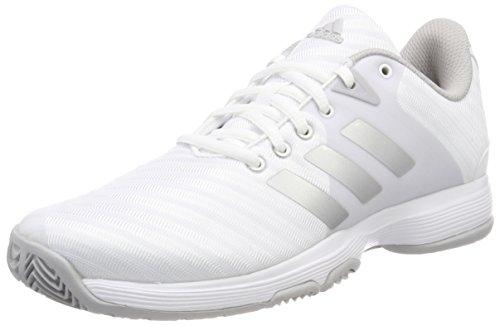 adidas Damen Barricade Court W Tennisschuhe, Weiß (Ftwbla/Plamat/Gridos 000), 40 EU