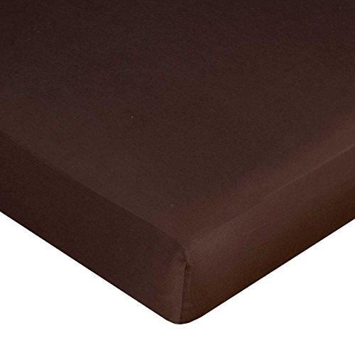 Carter's Sateen Fitted Crib Sheet, Dark Bark Brown
