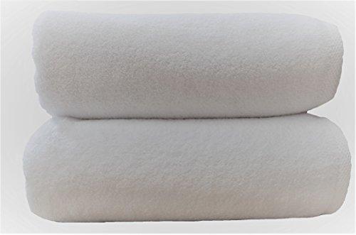 3 toallas de baño de lujo, 660 g/m2, 76x142 cm, 100% de algodón peinado egipcio de cero torsión. HOTEL SPA