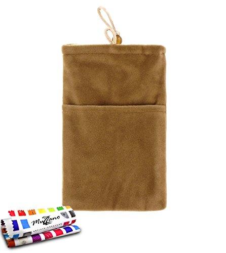 MUZZANO Tasche Alcatel OT/6033[Cocoon] [braun] Eingabestift und Reinigungstuch angeboten–Der Schutz stoßfest ultimative, Elegante und nachhaltige für Ihr Alcatel OT/6033