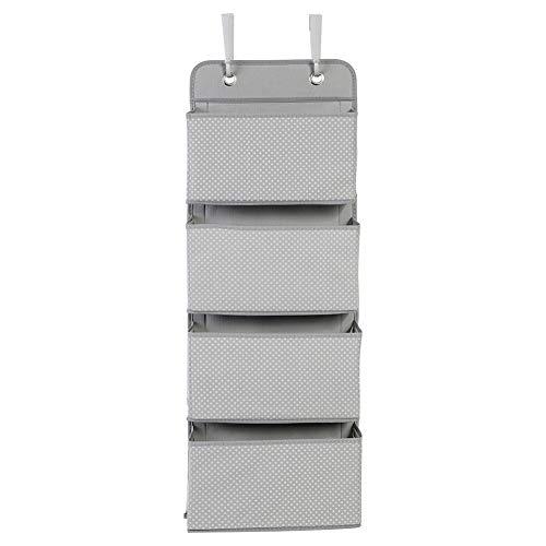Gaeirt Organizador de Almacenamiento Colgante, Organizador de Bolsillo Colgante Que Ahorra Espacio con 4 Bolsillos espaciosos para la Oficina para Uso doméstico para Viajar(Grey, White)