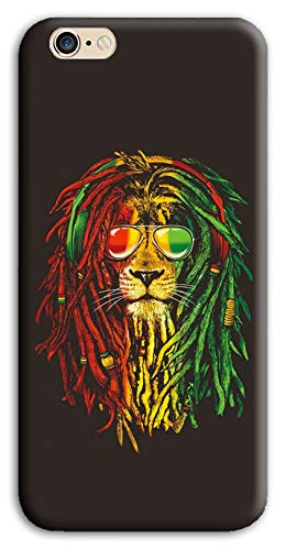 Mixroom - Cover Custodia Case in TPU Silicone Morbida per iPhone 7 M750 Leone Bob Marley
