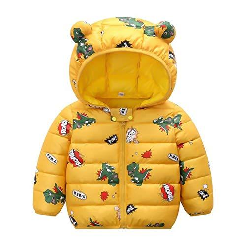PROTAURI Chaqueta Acolchada para bebé Oreja de Invierno Abrigo con Capucha Niño Niñas Chaqueta Impermeable Ropa de Abrigo Ligera Trajes