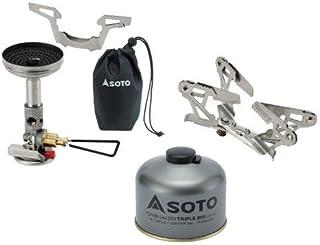 SOTO 3点セット マイクロレギュレーターストーブウインドマスター パワーガス250トリプルミックス ゴトク ソト SOD-310 SOD-725T SOD-460
