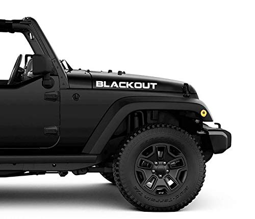 Custom Hood Decals Set of 2 - Compatible with Jeep Wrangler