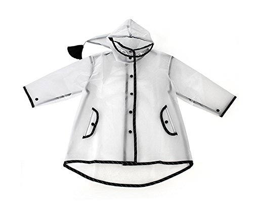 Outdoor Peak Raincoat Manteau de Pluie pour Enfant Transparent, Transparent, XL Height 120-135 cm