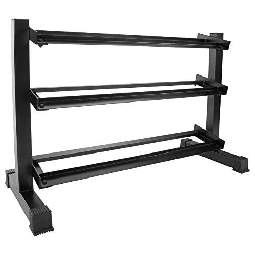 Sport-Tec Kompakthantel-Ständer mit 3 Ablagen, 119x50x76 cm