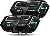 Bluerider Motorrad Intercom Helm Headset Gegensprechanlage Bluetooth 4,1 bis zu 8 Reiters,...