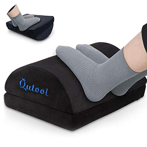 Foot Rest for Under Desk at Work with Adjustable Heights-Large Ergonomic footrest for Under Desk for Improve Sitting Posture & Blood Circulation-Foot Stool for Home Office Trip with Non-Slip Bottom